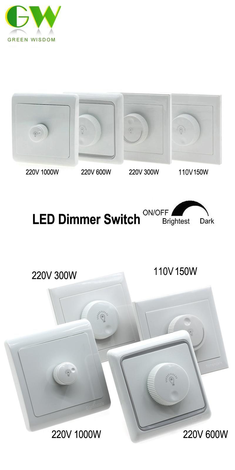 Visit To Buy Led Dimmer Switch 110v 150w 220v 300w 600w 1000w Brightness