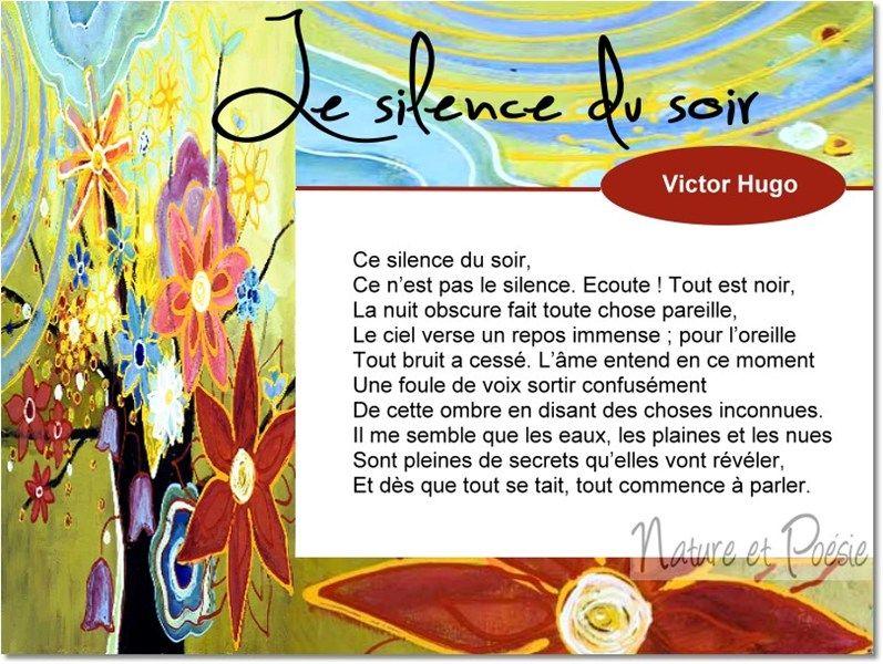 Le silence du soir, Victor Hugo.