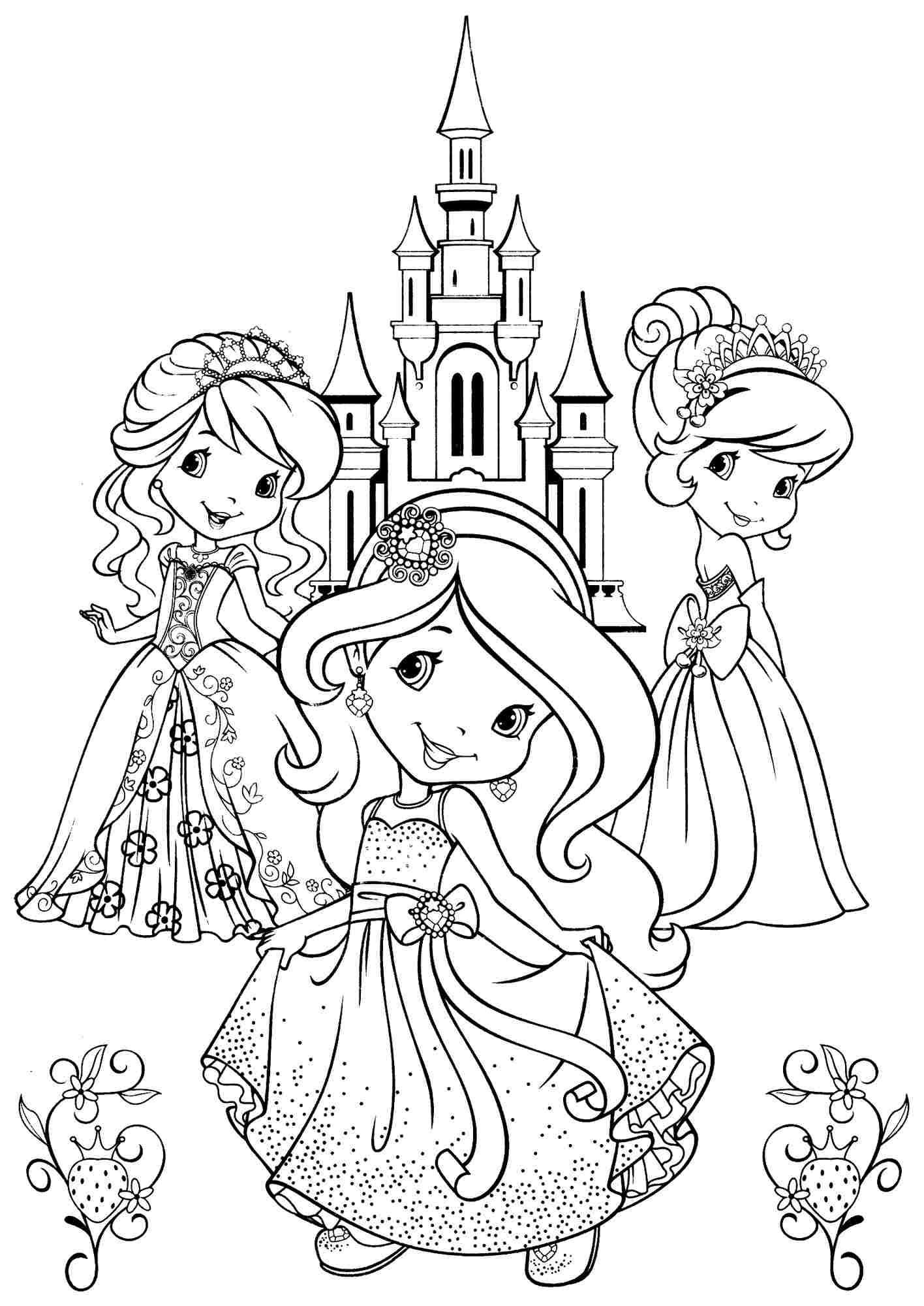 Printable Free Cartoon Strawberry Shortcake And Friends Coloring ...