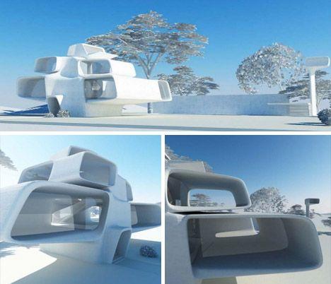 Timeless Design Past Futurism Post Modernism Beyond Futuristic Home Unique Buildings Modern House Design