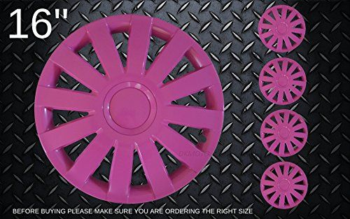 Pink Wheel trims Hub Caps Wheel covers 15 Universal DKMOTO http://