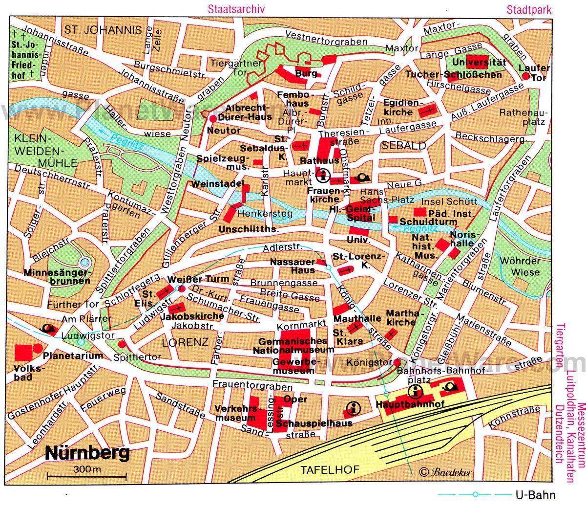 Image Result For Nuremberg Tourist Map Xmas Markets Pinterest