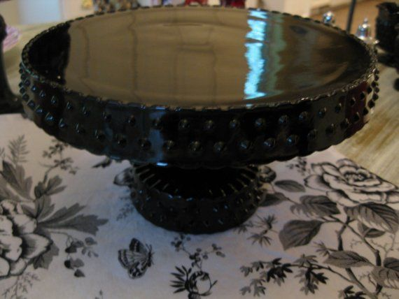 Your Place To Buy And Sell All Things Handmade Black Amethyst Glass Cake Stand Cake