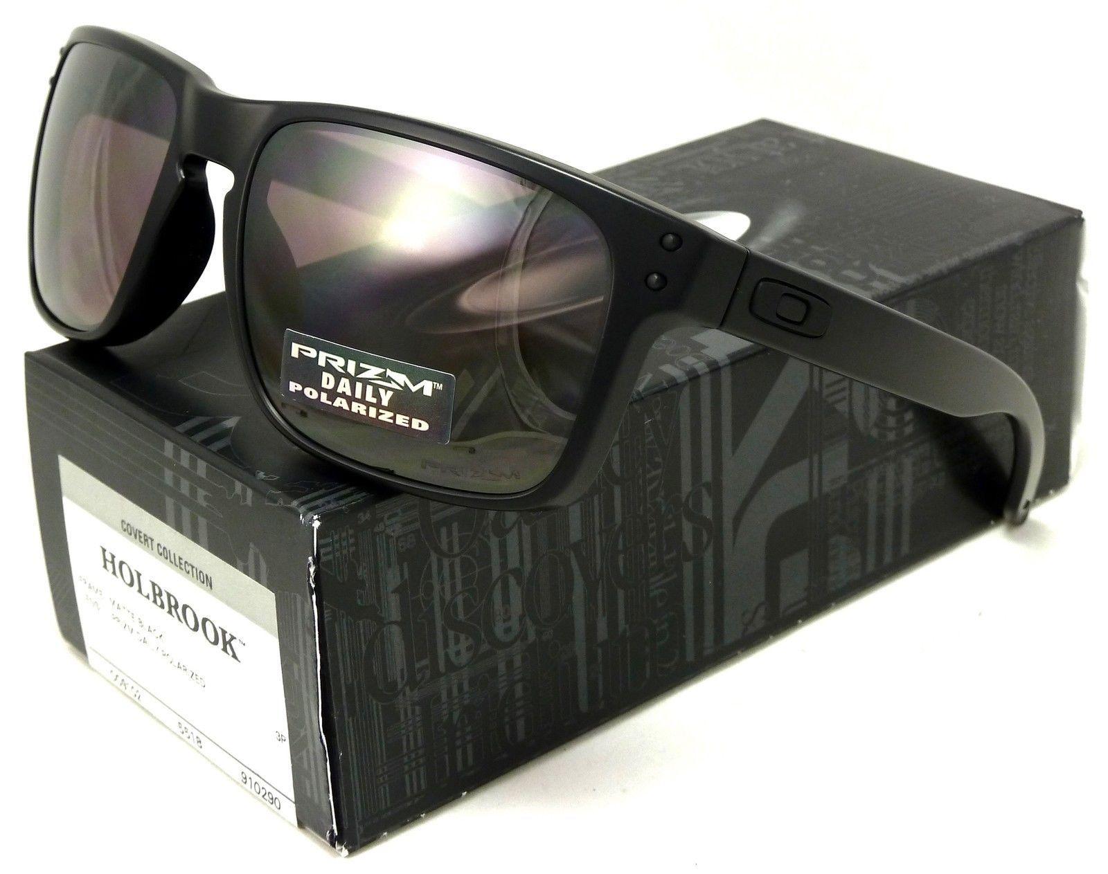 oakley holbrook covert polarized sunglasses-matte black/daily prizm polarized