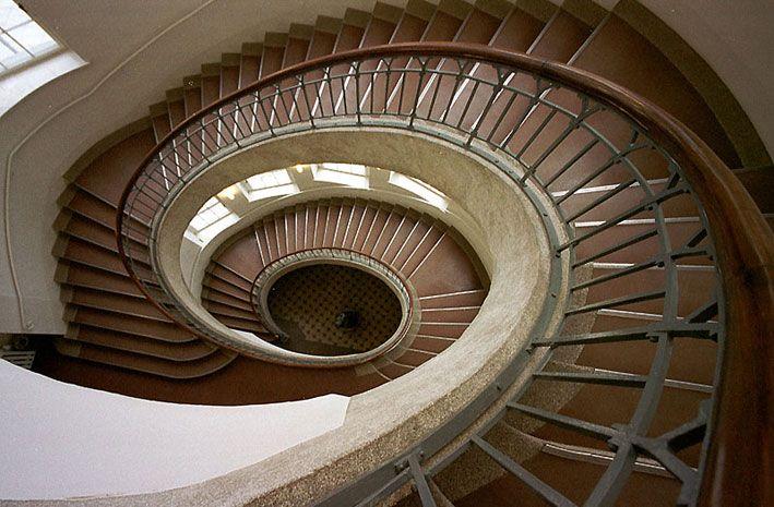 Bauhaus Hagen helical stair 1904 henry de velde bauhaus universtität weimar