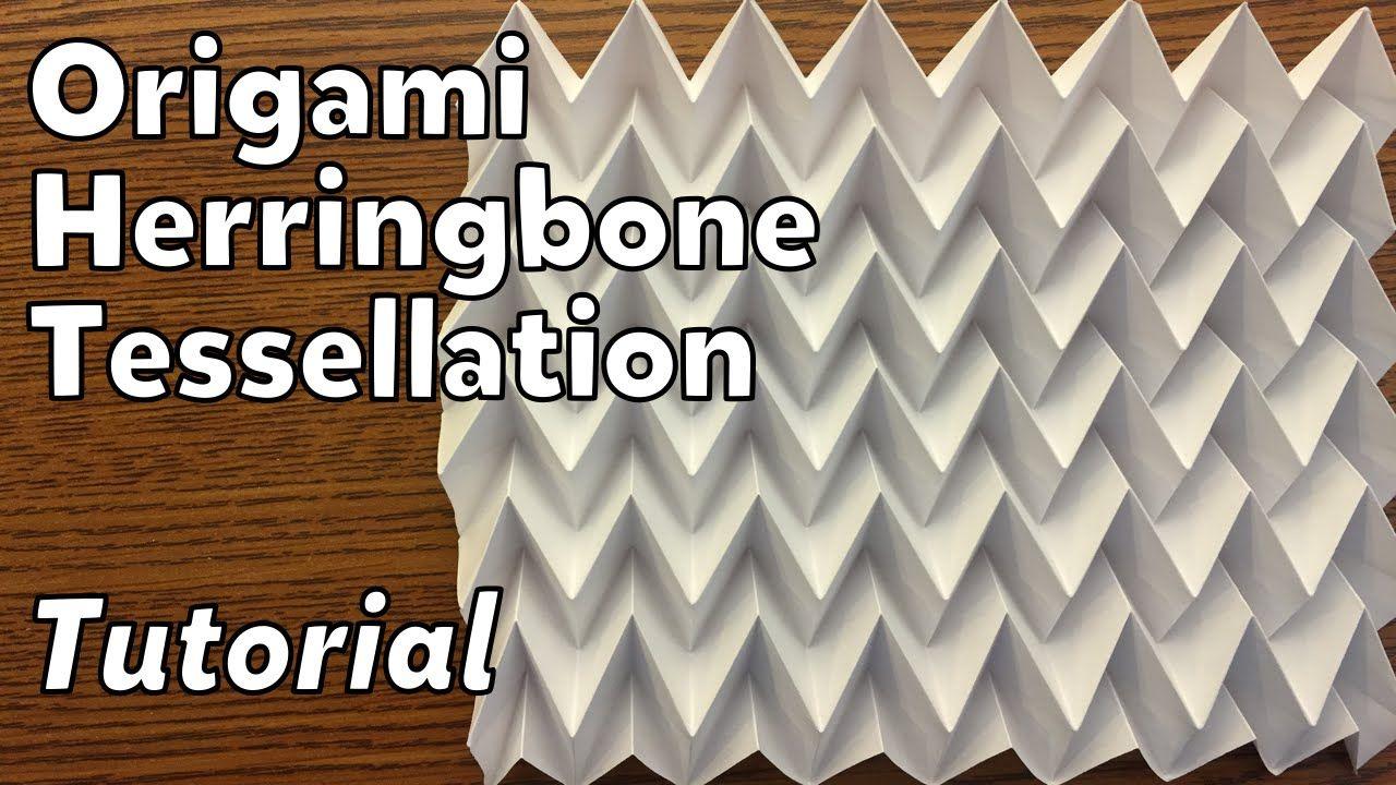 Herringbone paper, origami do it yourself