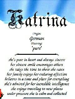 Meaning of Katrina | Names with meaning Perfect word Words