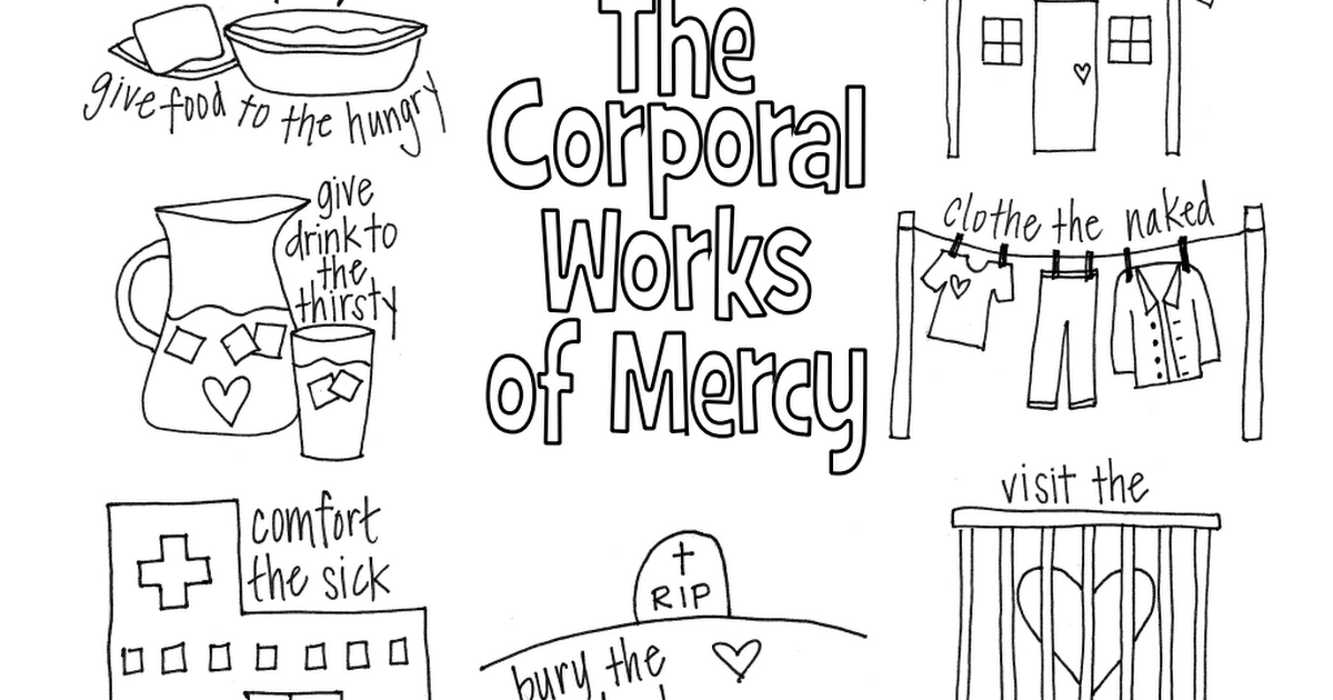 works of mercy coloring pages - photo#15