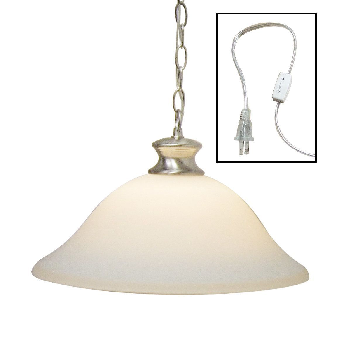 Dolan Designs Glass Shade Swag Lamp Brushed Nickel So121 09 Lampsusa Swag Pendant Light Glass Shades Swag Light