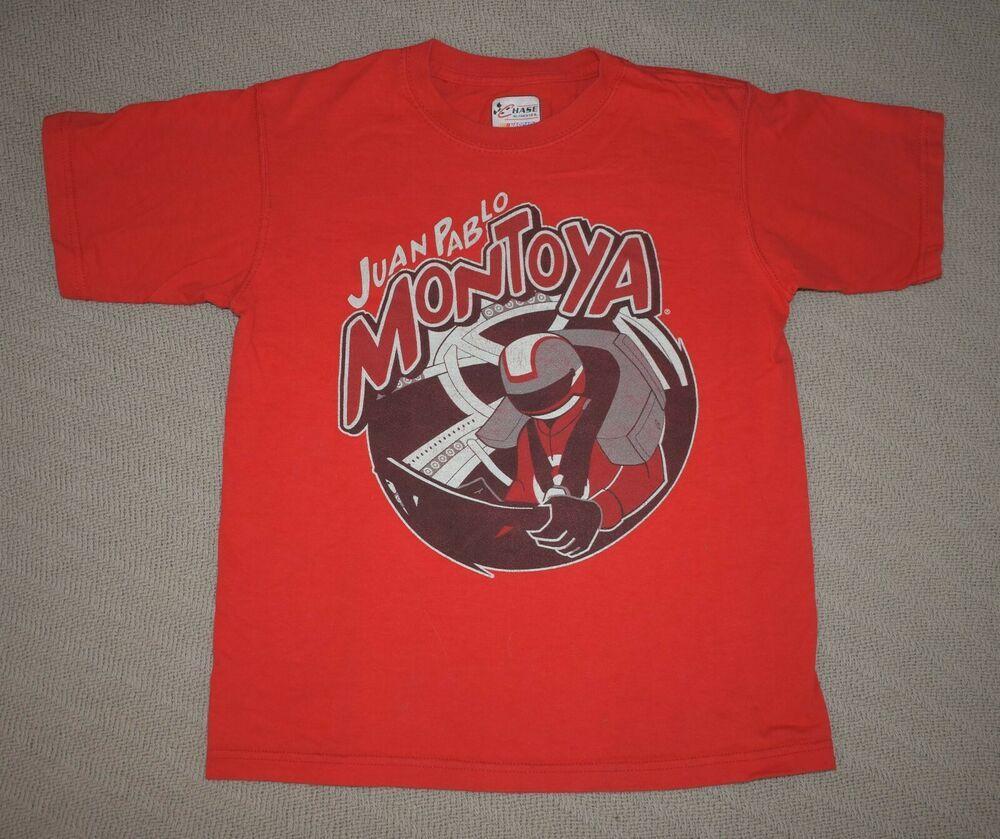 Large Boy/'s Juan Pablo Montoya Nascar T-Shirt Size NEW!