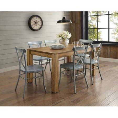 Better Homes And Gardens Bryant 7 Piece Dining Set Vintage Silver