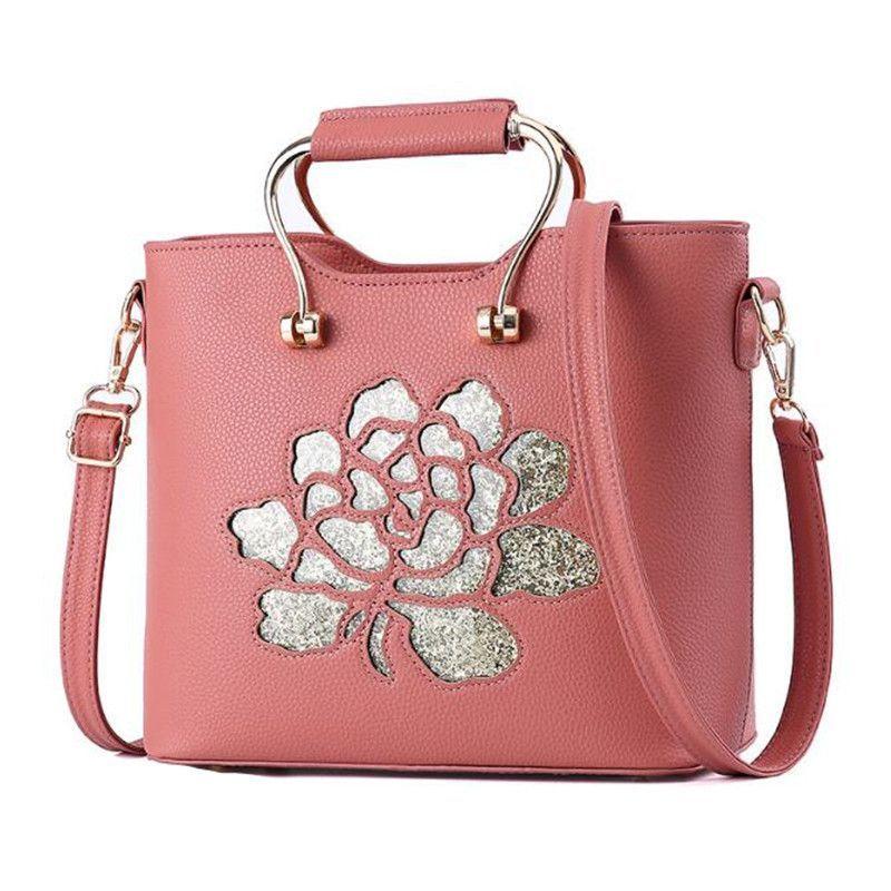 Women tote lady handbags flower design