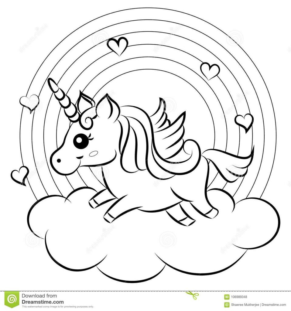kleurplaat unicorn regenboog zoeken kleurplaten