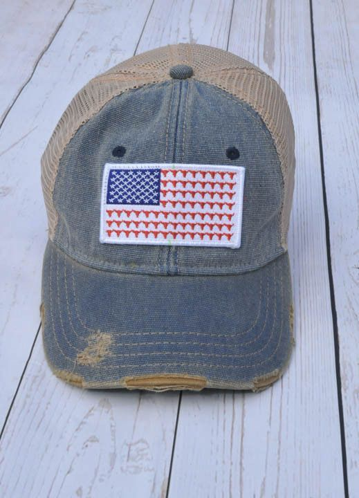 210376253 Judith march flag steerhead patch - blue hat | Hats | Hats, Judith ...