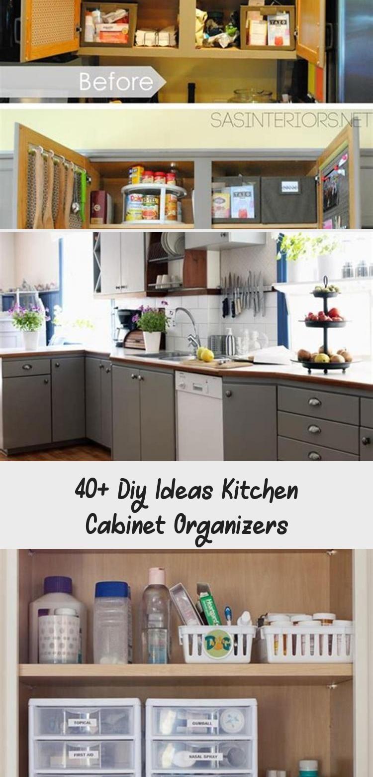 40+ Diy Ideas Kitchen Cabinet Organizers - KTCHN #cabinetorganizers