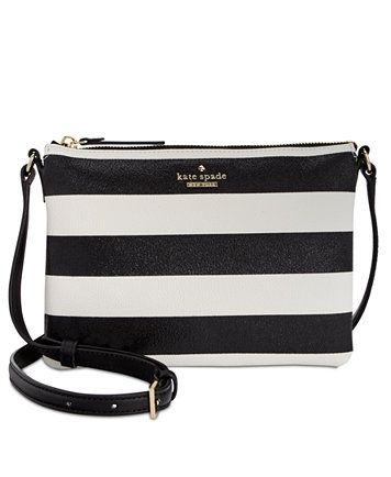 c0af0600e •Kate Spade• ~The New York Hawthorne Lane Glitter Carolyn Cross Body Bag In  Black & White Horizontal Stripes~ This Is Exactly What I Want In A Small  Sized ...