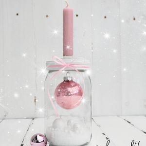 kugel im glas... kerzenhalter deko... #weihnachtsdekoglas