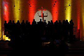 Choir, Church Choir, Light, Shadow