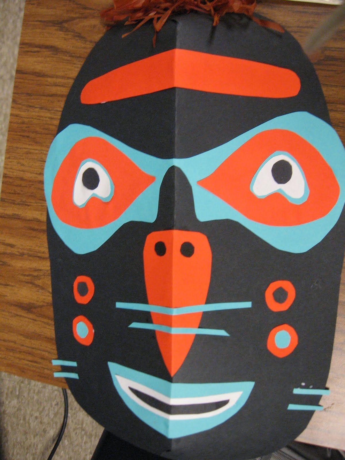 Inuit Inspired Masks 5th Grade