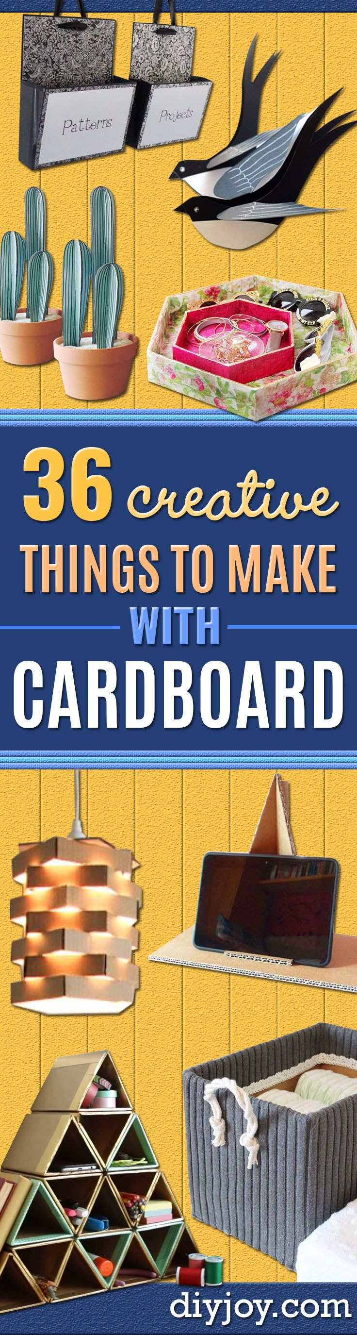 36 Creative Things to Make With Cardboard | Pinterest | Decor crafts ...