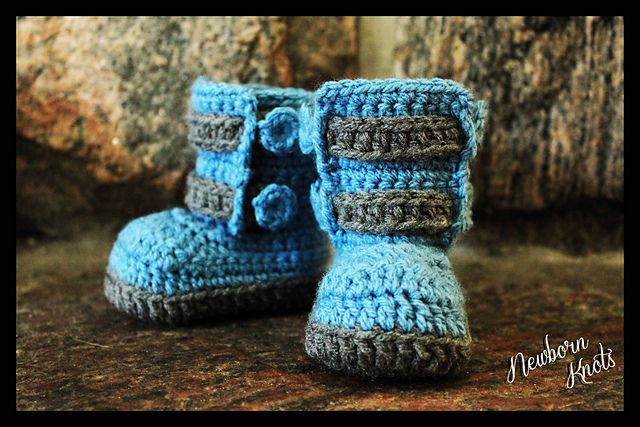 Ravelry: Boys or Girls Double Strap Baby Bootie. #28 pattern by Amanda Chapman