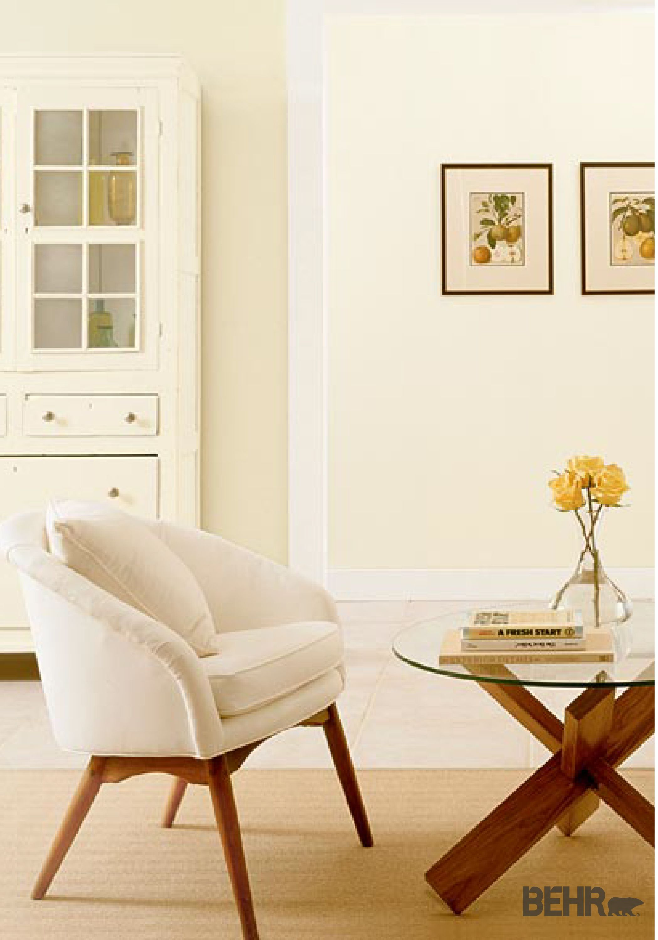 Warm And Ery A Subtle Coat Of Yellow Paint In Any Room Your Home Is Sure To Add Comforting Twist By Adding Behr Rainforest Dew White