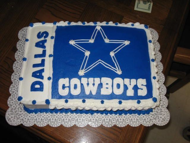 Dallas Cowboys Cake By Robzc8kz Needed A Quick Cake For A Dallas