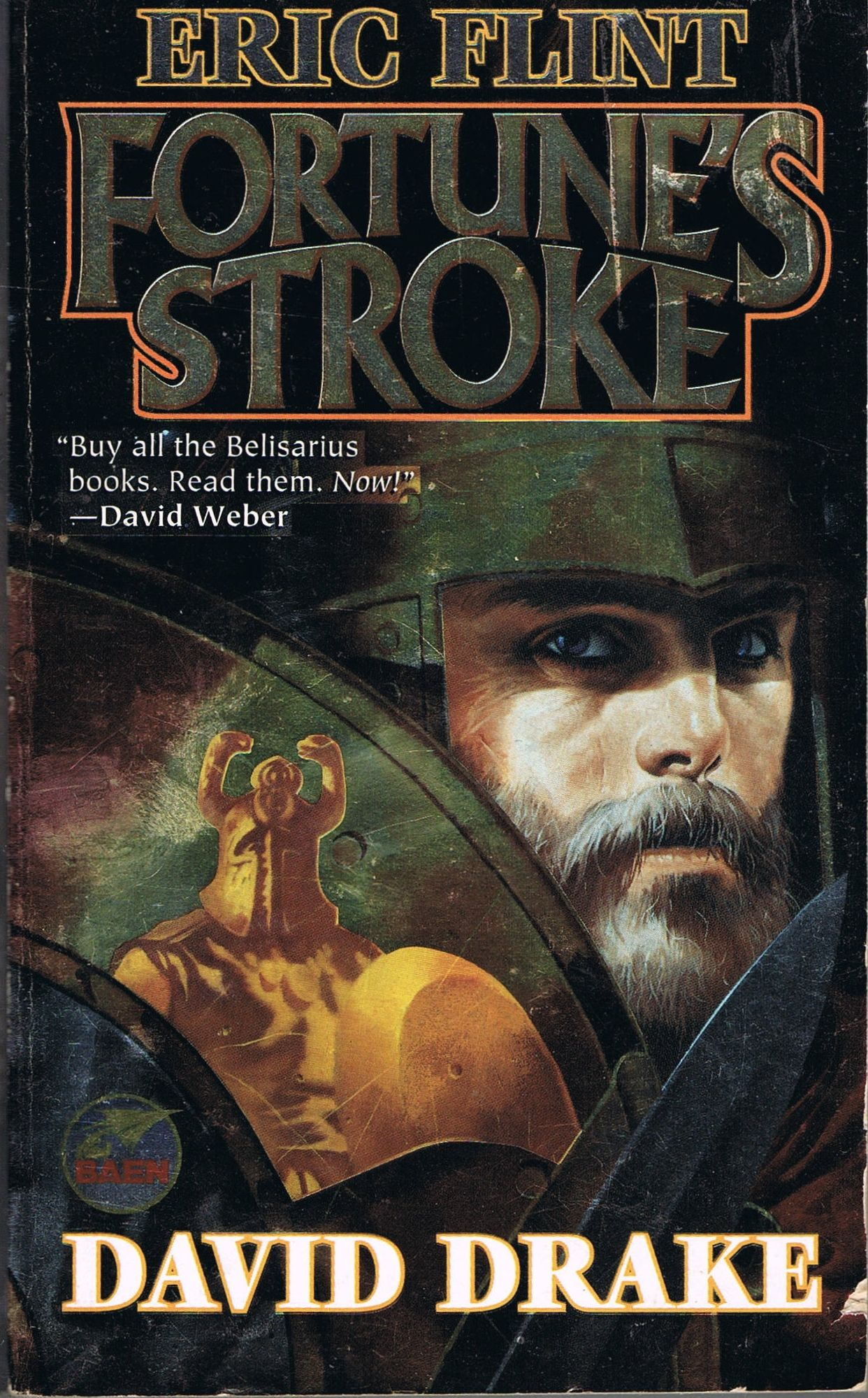 Fortune's Stroke (2000) by Eric Flint and David Drake. Fourth in the Belisarius alternate history military series. Flint and Drake handle the interweaving of the different story lines very well. There are armies, battles, sieges, terrorist attacks and guerrilla warfare spread over four countries; plus navy battles and weddings, but the story is easy to follow. Finished 29th Nov 2013, bought second hand this year.