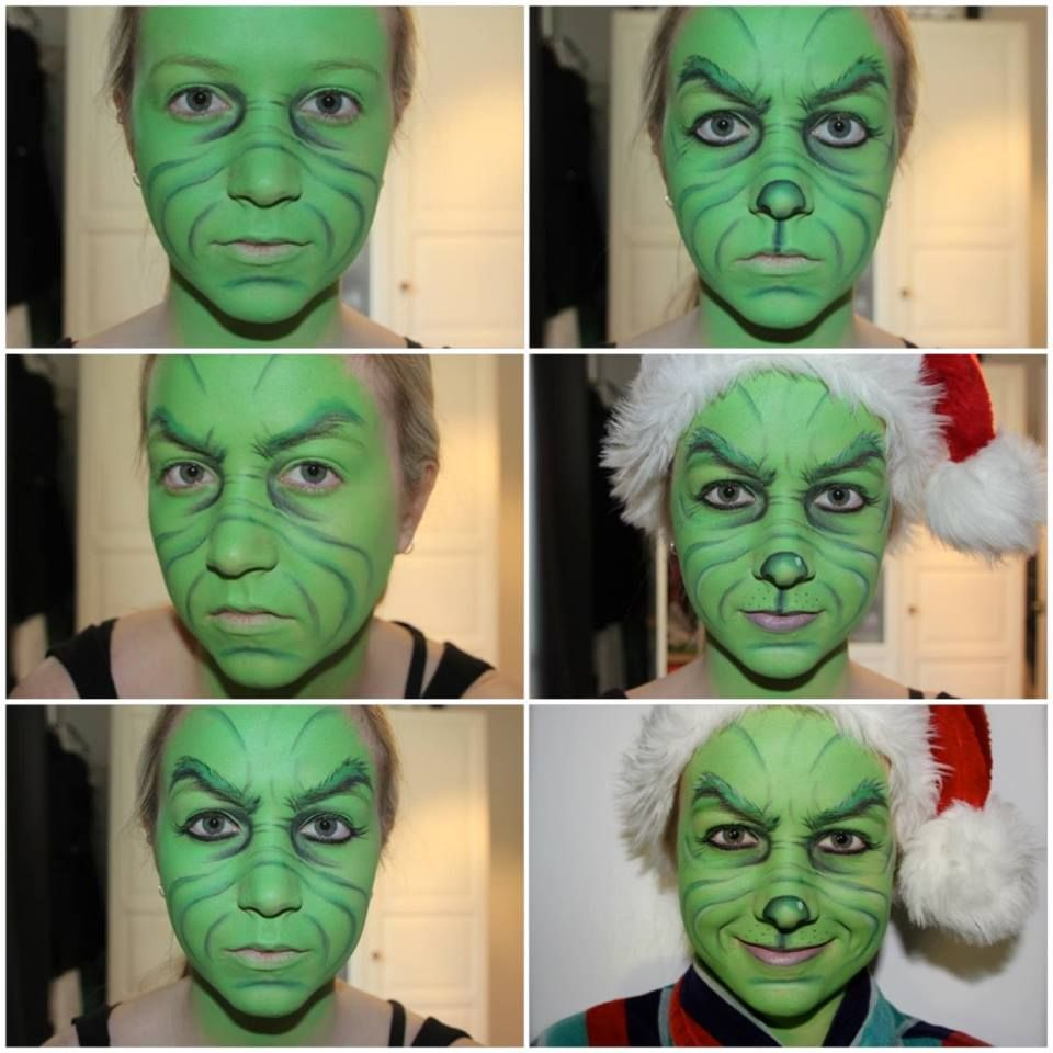 How to make your own grinch costume - Step By Step Process Of How I Achieved This Grinch Makeup 1 Cover Whole