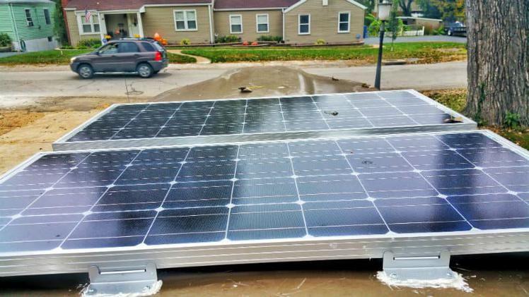 How We Mounted Solar Panels On A Fiberglass Van Roof Solar Panels Solar Fibreglass Roof