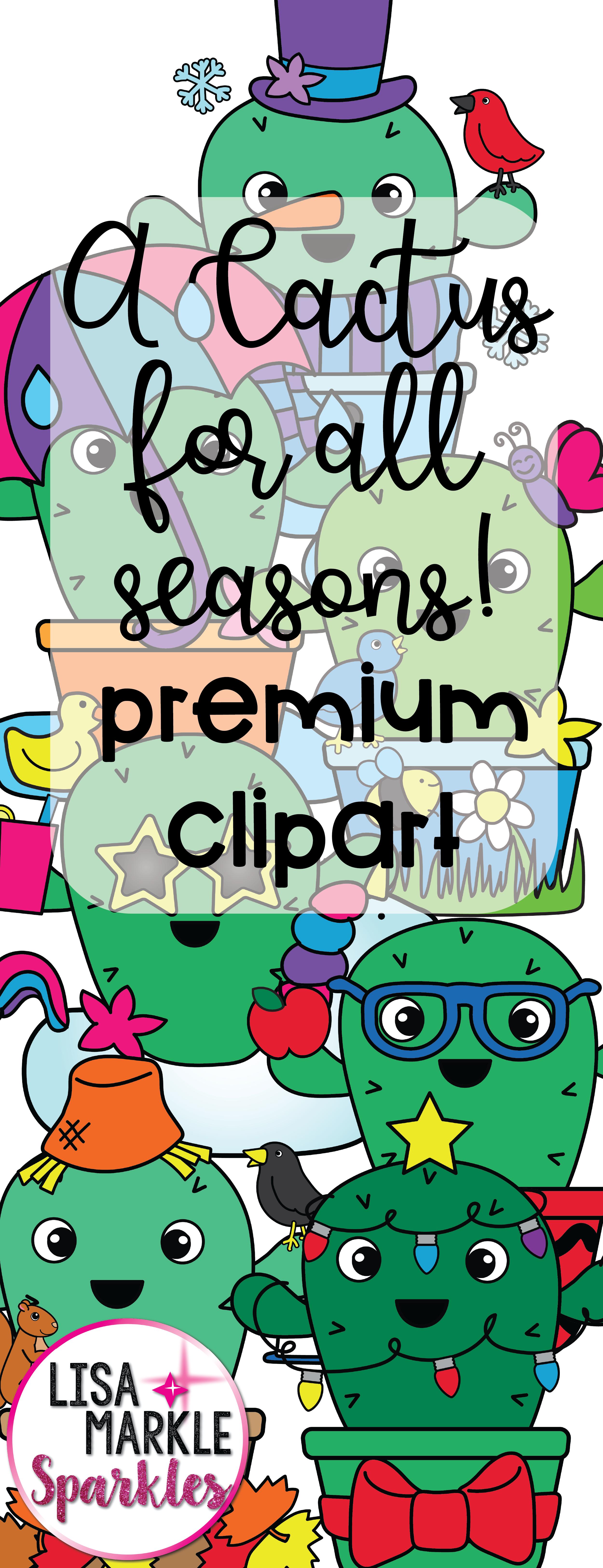 Seasons And Holidays Cactus Calendar Month Clipart Clip Art Preschool Fun Cactus Clipart