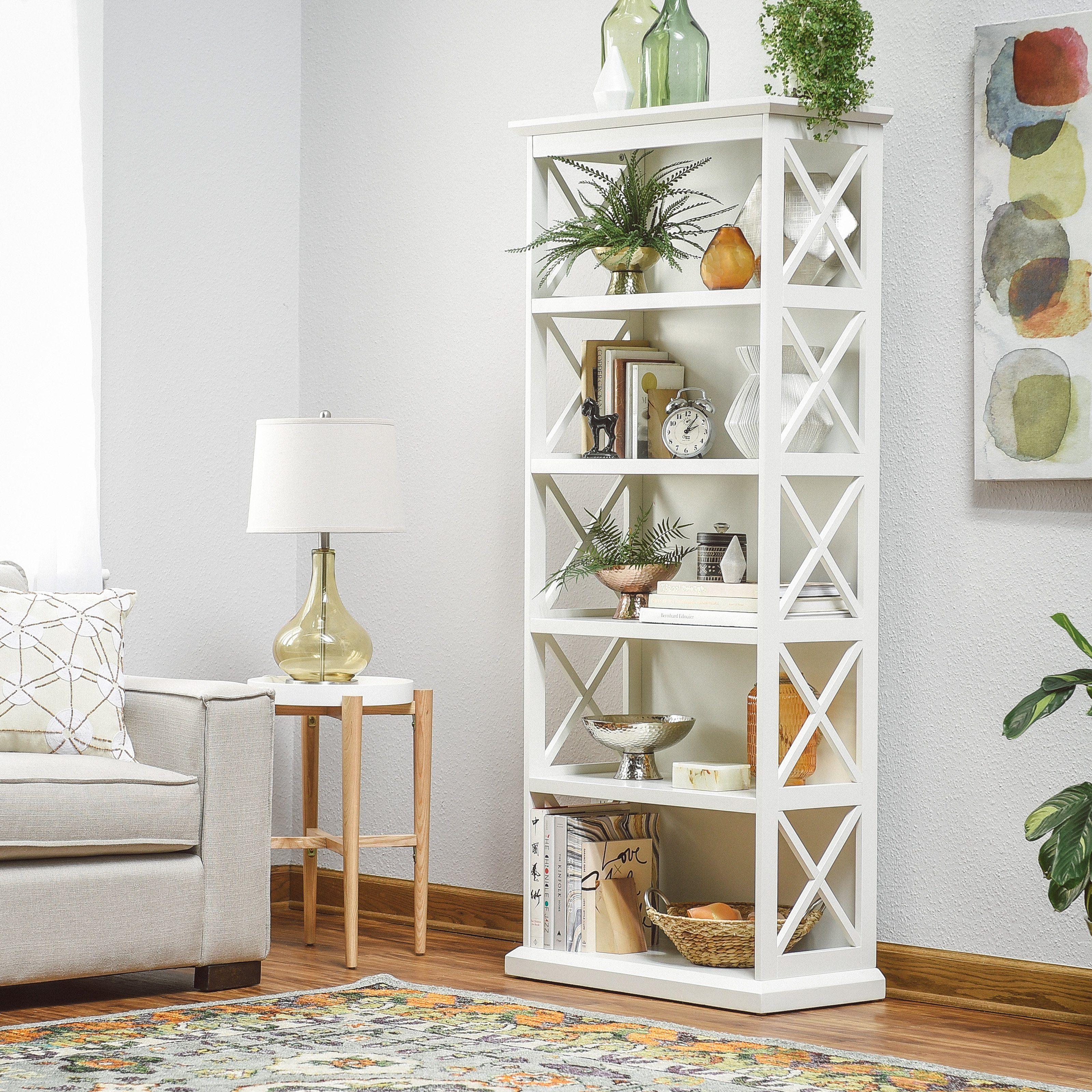 Belham Living Hampton 5-Tier Bookcase - White - KG216A-R1 W ...