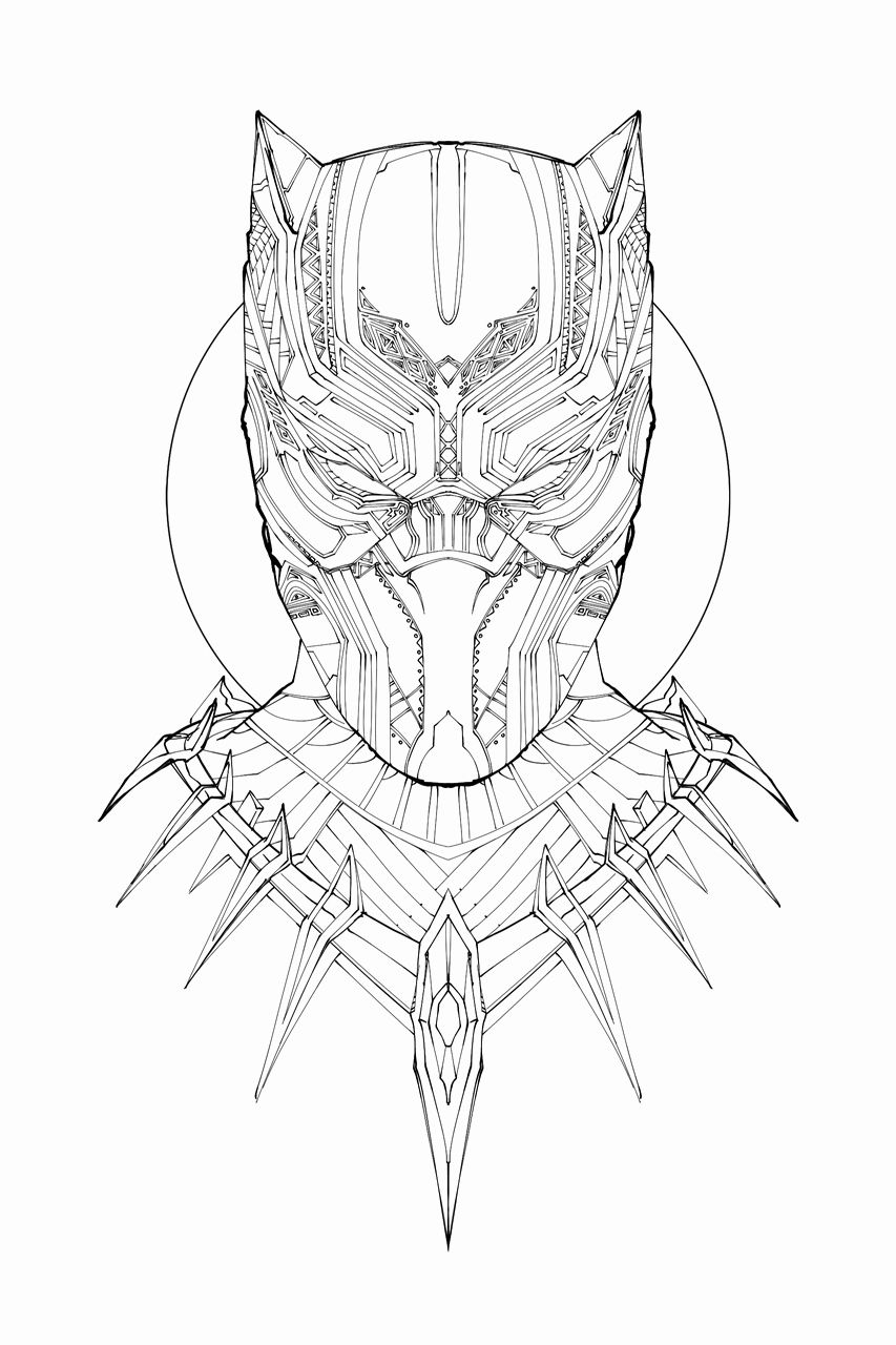 Black Panther Coloring Book Inspirational Black Panther Moive Coloring Pages Free Printable Color In 2020 Owl Coloring Pages Puppy Coloring Pages Stitch Coloring Pages