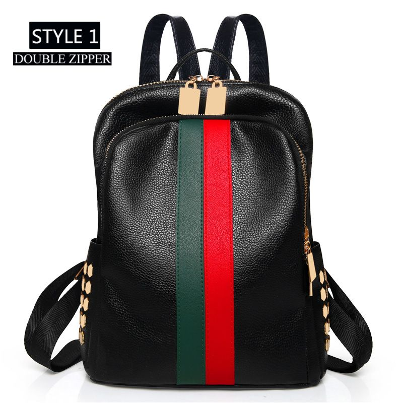 6e241296ba5c MYNOS Luxury Brand Designer Women Leather Backpack Casual Backpack ...