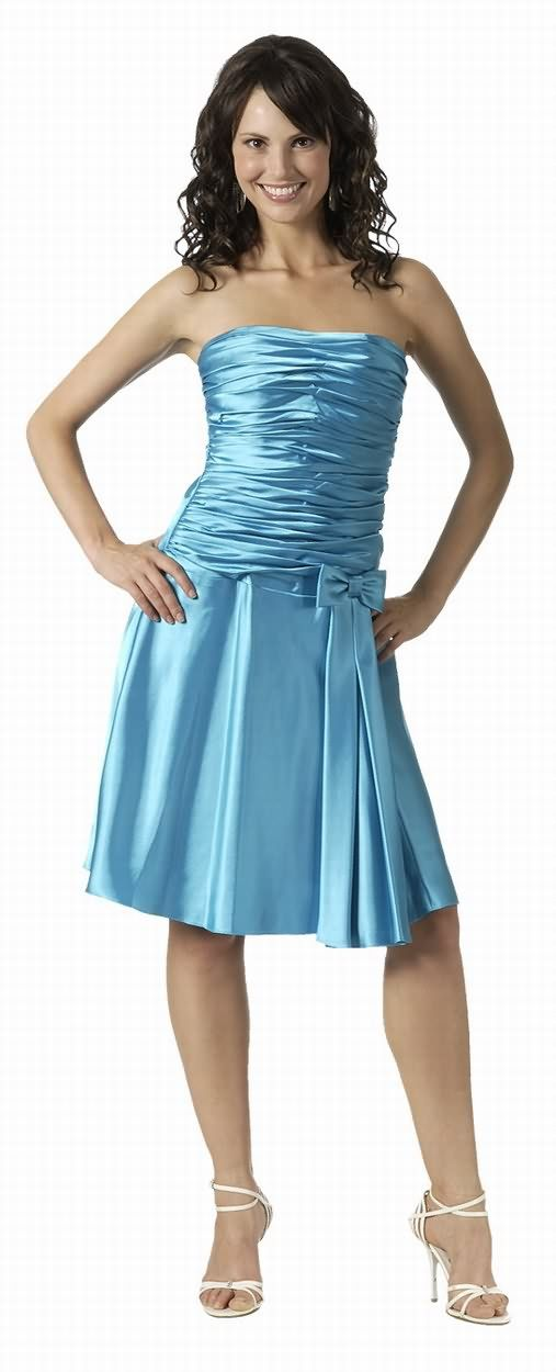 Turquoise Knee Length Cocktail Dresses