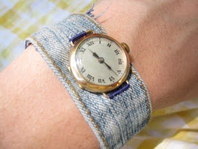 DIY watch band using an op shopped watch face... I need one of these as I am allergic to nickel.