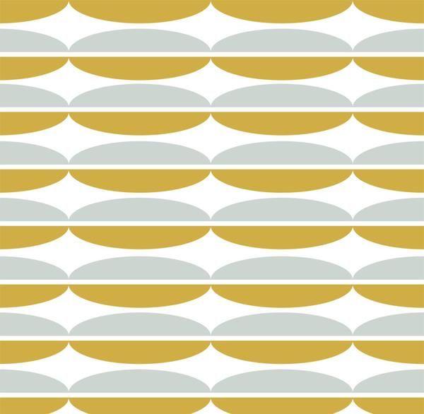Lekker nieuw-retro is deze nieuwe behangprint 'Oval', ook de kleurtjes voelen een vleugje retro aan. Match je muur met onze leuke lampenkap en kussens van dezel
