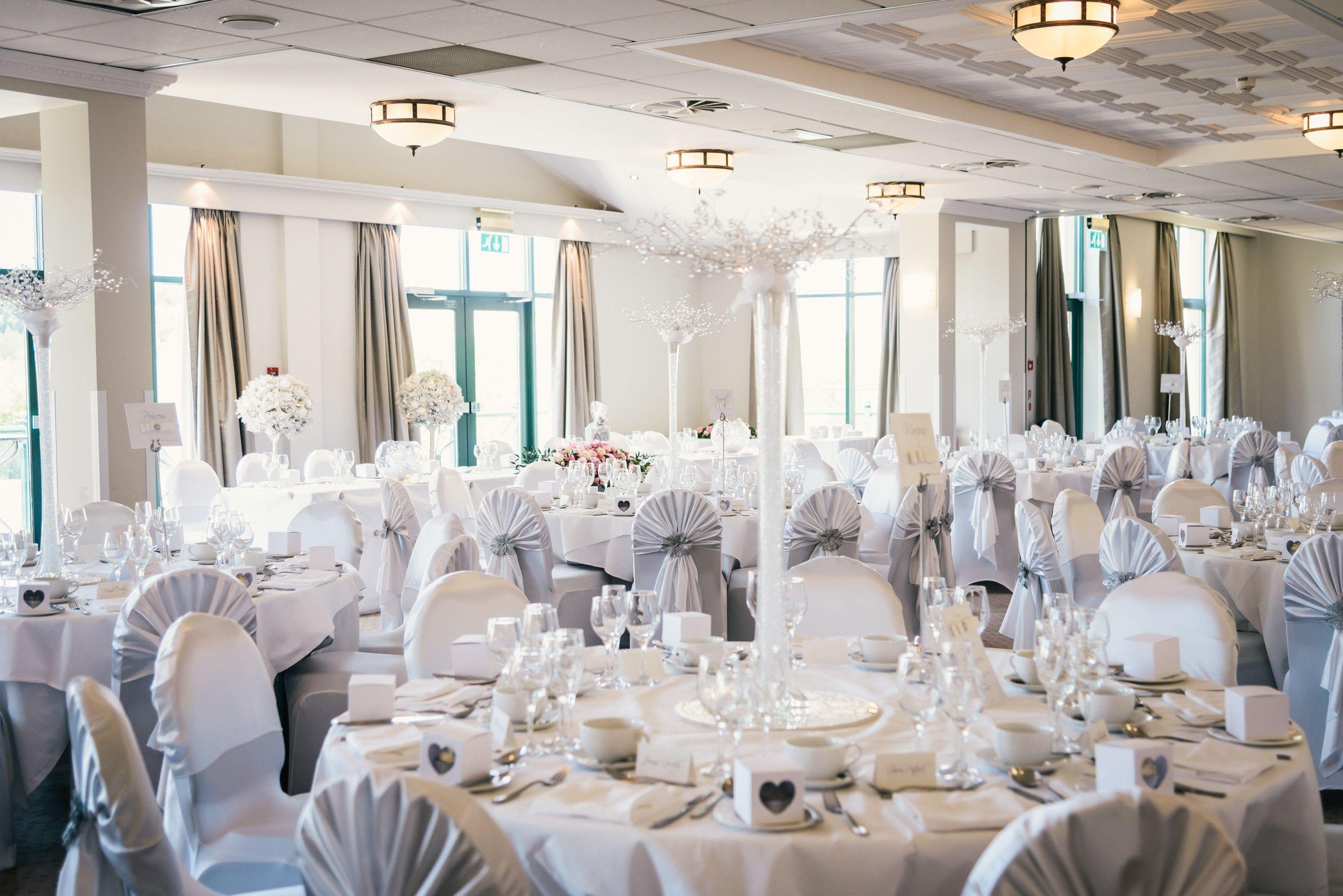 White and Silver Wedding Theme | Wedding Decor | Wedding Venue ...