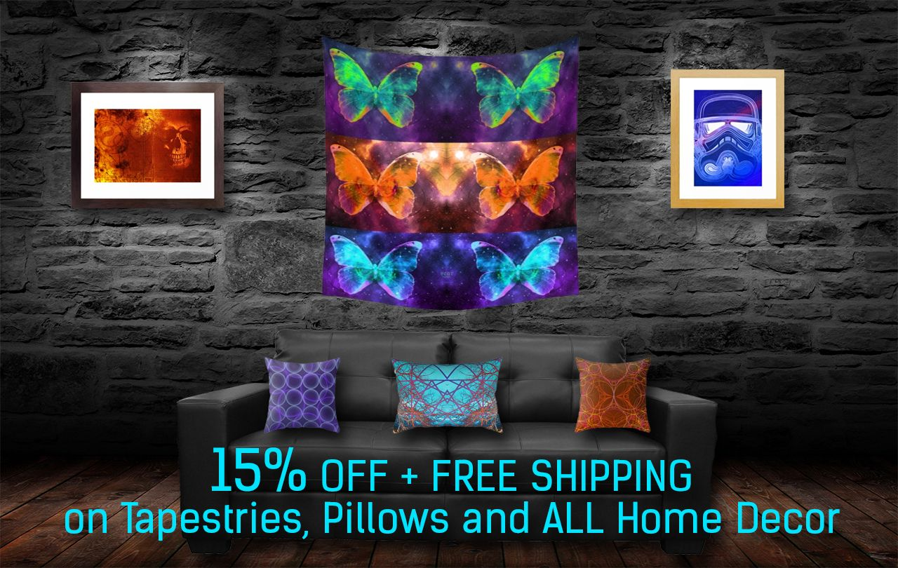 15% OFF + FREE SHIPPING on Tapestries, Pillows and ALL Home Decor   #sales #Sales #Society6 #discount #FreeShipping #freeshipping #society6sales #pillows #tapestries #buywalltapestries #homedecor #homegifts #home #mancave #kidsroom #geek #nerd #geekgifts