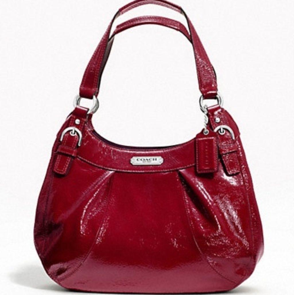 Friday 120coach Crimson Soho Patent Hobo Bag
