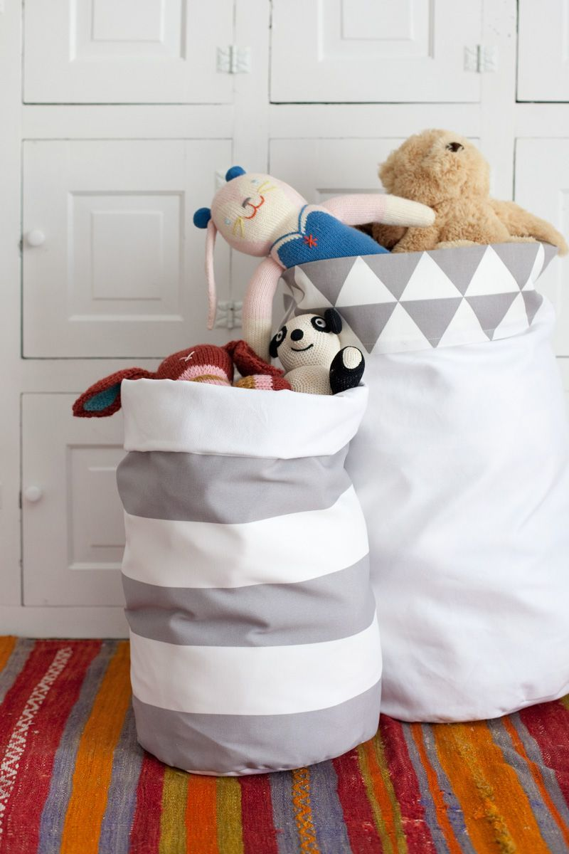 Fabric Storage Bins—They're Reversible!