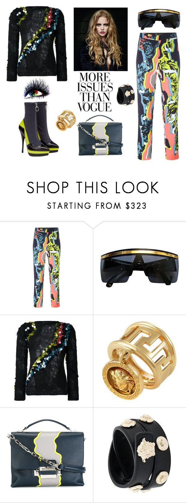 """""""More issues than Vogue"""" by zabead ❤ liked on Polyvore featuring Versace and GE"""