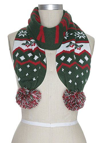 Ugly Christmas Sweater Scarves Ugly Sweaters By City Ugly