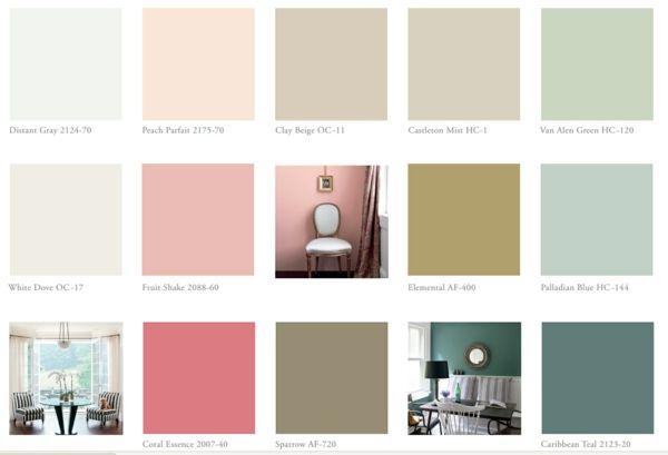 Farbtafel Wandfarbe - Wählen Sie die richtigen Schattierungen ...