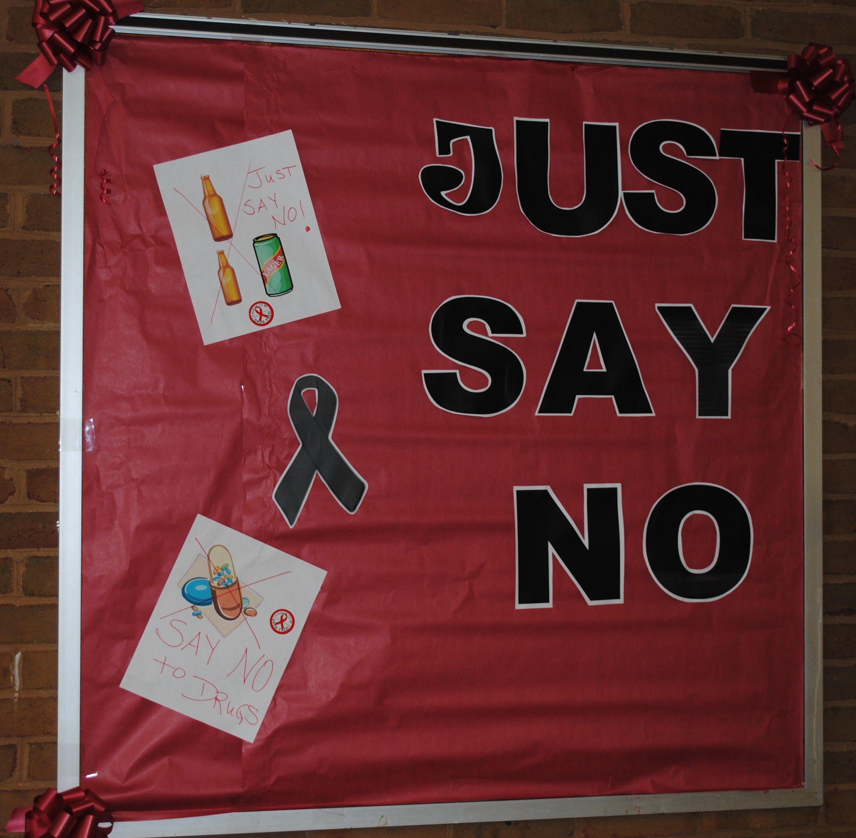 JUST SAY NO! Red ribbon week, Sayings, Red ribbon