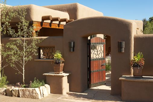 Traditional adobe southwest style santa fe home builders for Adobe floor