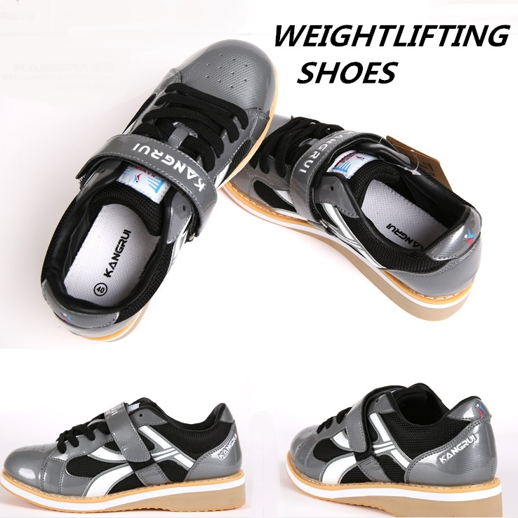 59.31$  Buy now - http://alibrg.shopchina.info/go.php?t=32663814217 - 2016 Professional Weightlifting Training Leather Slip Resistant Weightlifting Shoes 35-45  #aliexpressideas