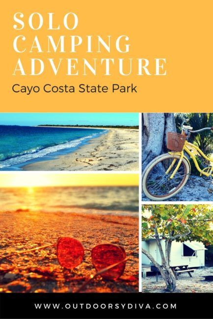 Solo Camping at Cayo Costa State Park, a barrier island in the Florida State Park system.  www.outdoorsydiva.com