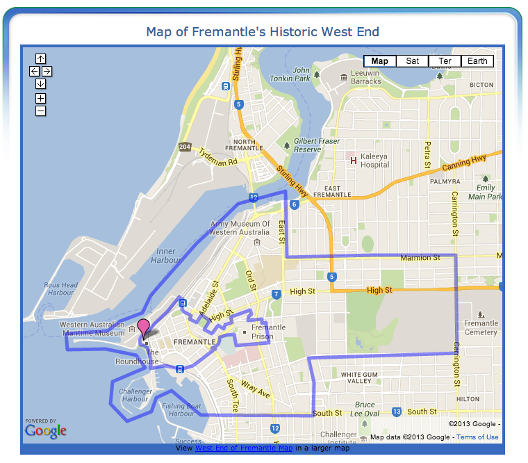 Fremantles Historic West End Map Boundaries of the Historic West