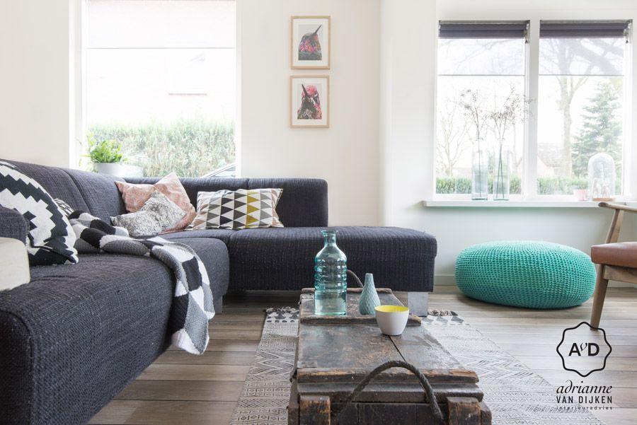 Interieur styling woonkamer, vloerkleed van House Doctor I Styling ...
